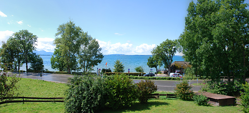Chiemsee Blick im Sommer